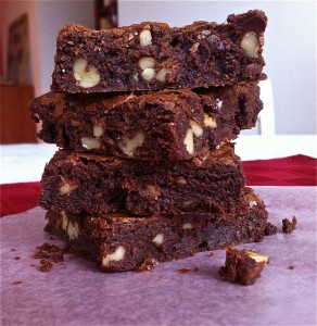 One pot uber-fudgie brownies. No mixer required.